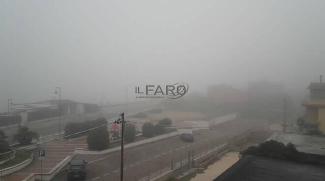 nebbia litorale romano