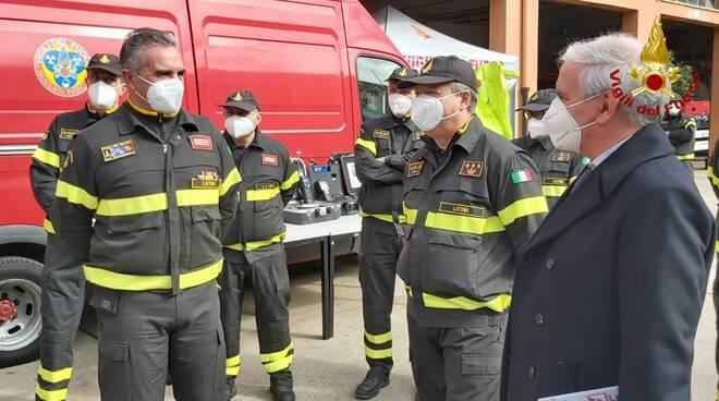 visita prefetto vigili del fuoco latina
