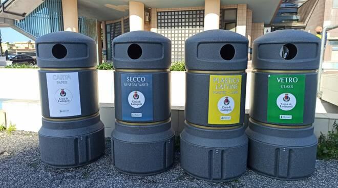cestini rifiuti Ladispoli