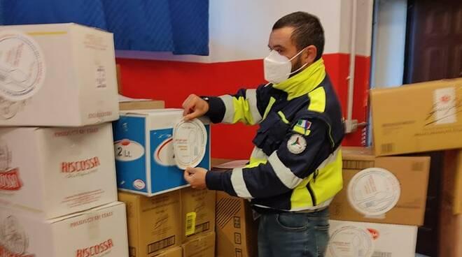 pacchi alimentari protezione civile ladispoli