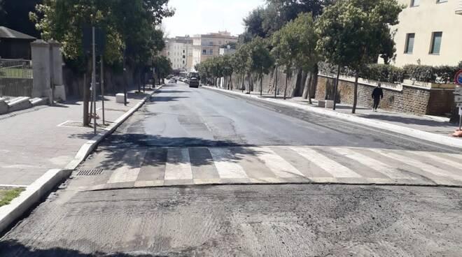rifacimento asfalto via paolini anzio
