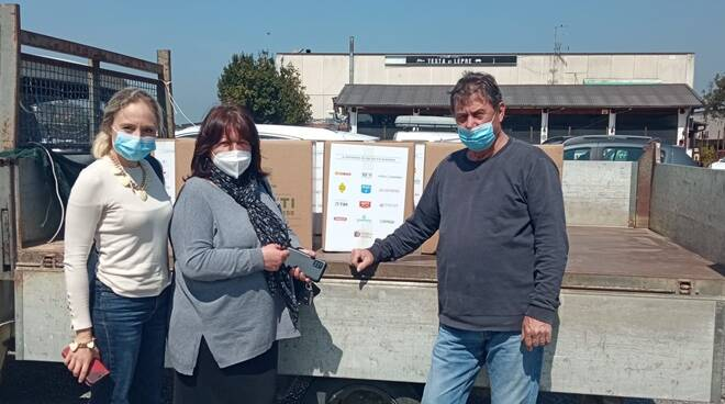 donazione coldiretti lazio caritas fregene palidoro