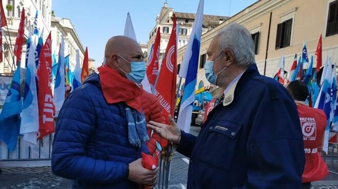 manifestazione alitalia roma 21 aprile 2021