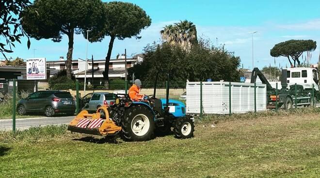 operazioni pulizia parco della madonnetta acilia