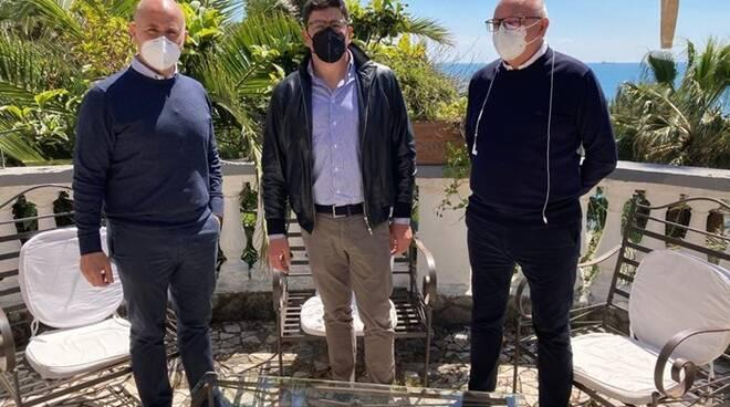 Salvatore De Meo, Gianluca Taddeo e Pino Simeone