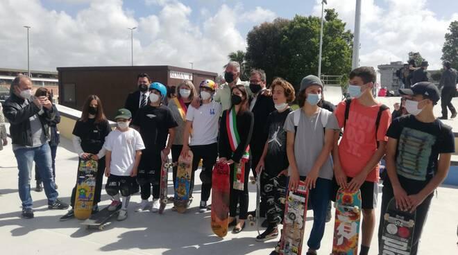 inaugurazione skate park ostia