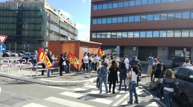 protesta operatori Aec Fiumicino