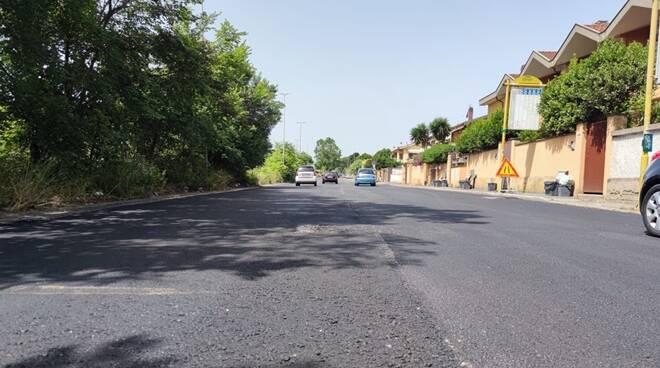 lavori asfaltatura viale dei romagnoli ostia