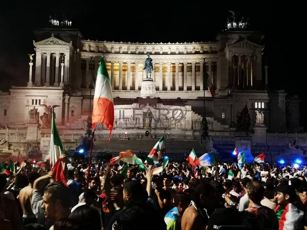 euro 2020 festa tricolore roma italia inghilterra