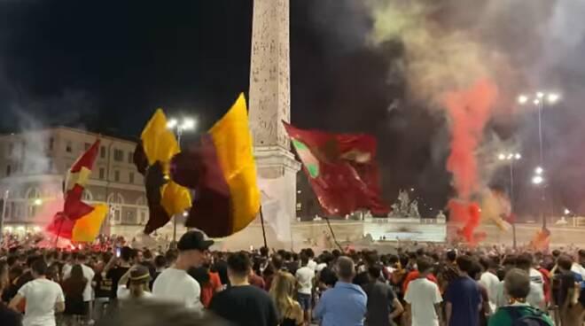 festa as roma piazza del popolo
