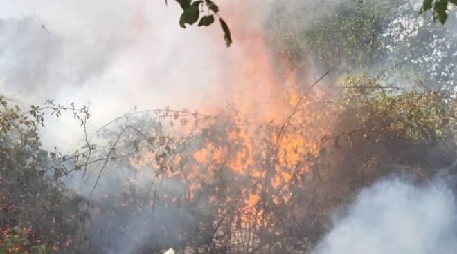incendio Sughereta Pomezia