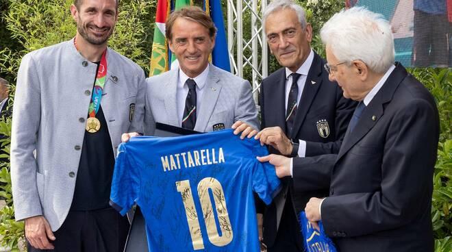 mattarella azzurri italia euro 2020