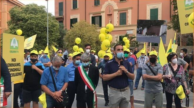 protesta cinghiali