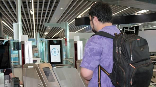 riconoscimento biometrico aeroporto di fiumicino voli delta usa