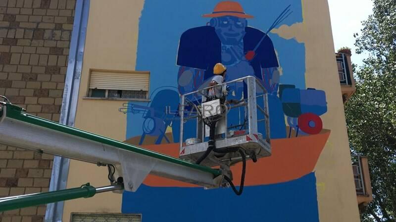 street art fiumicino murales villaggio azzurro