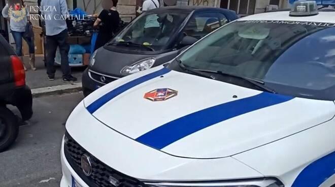 via ostiense polizia locale x gruppo mare