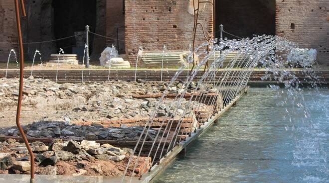 fontana delle pelte palatino domus augustana