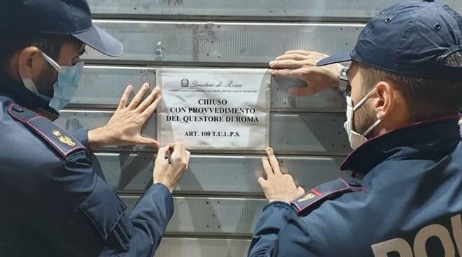 chiusura minimarket fiumicino polizia di stato