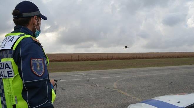 drone Polizia locale Pomezia