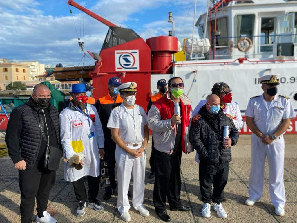Fiumicino, i ragazzi disabili salpano alla scoperta del Tevere insieme alla Guardia Costiera