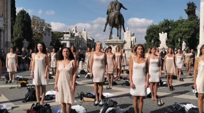 flash mob Alitalia Campidoglio