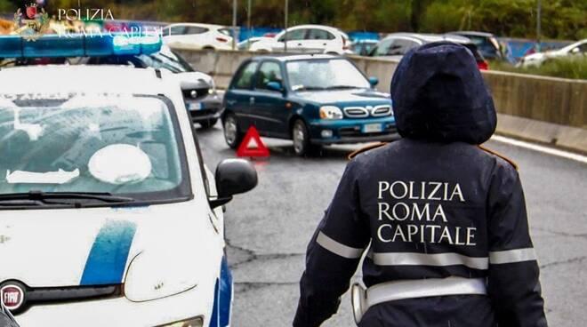 polizia locale roma maltempo