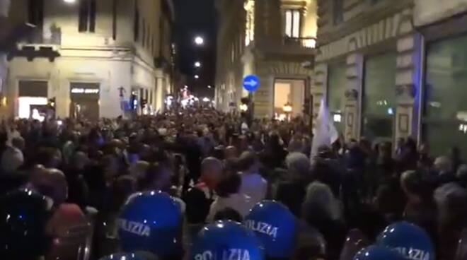 protesta green pass Roma