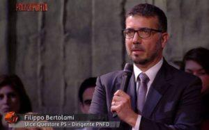 Il vice questore aggiunto della Polizia di Stato, Filippo Bertolami