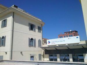 La Casa della Salute, ex ospedale Sant'Agostino, in lungomare Paolo Toscanelli 230 a Ostia