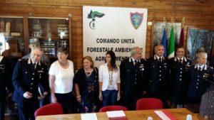 Un momento dell'incontro tra l'amministrazione locale e i Carabinieri Forestali