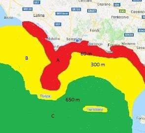 Mappa del Marine litter a Terracina