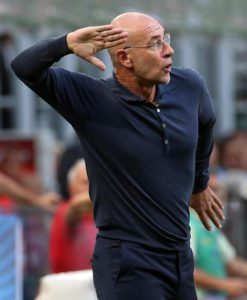 Palermo's coach Davide Ballardini reacts during the Italian Serie A soccer match FC Inter vs US Palermo at Giuseppe Meazza stadium in Milan, Italy, 28 August 2016. ANSA/MATTEO BAZZI