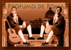 Claudio Valderetti, a sinistra, e Maurizio Riggi negli abiti folcloristici romani