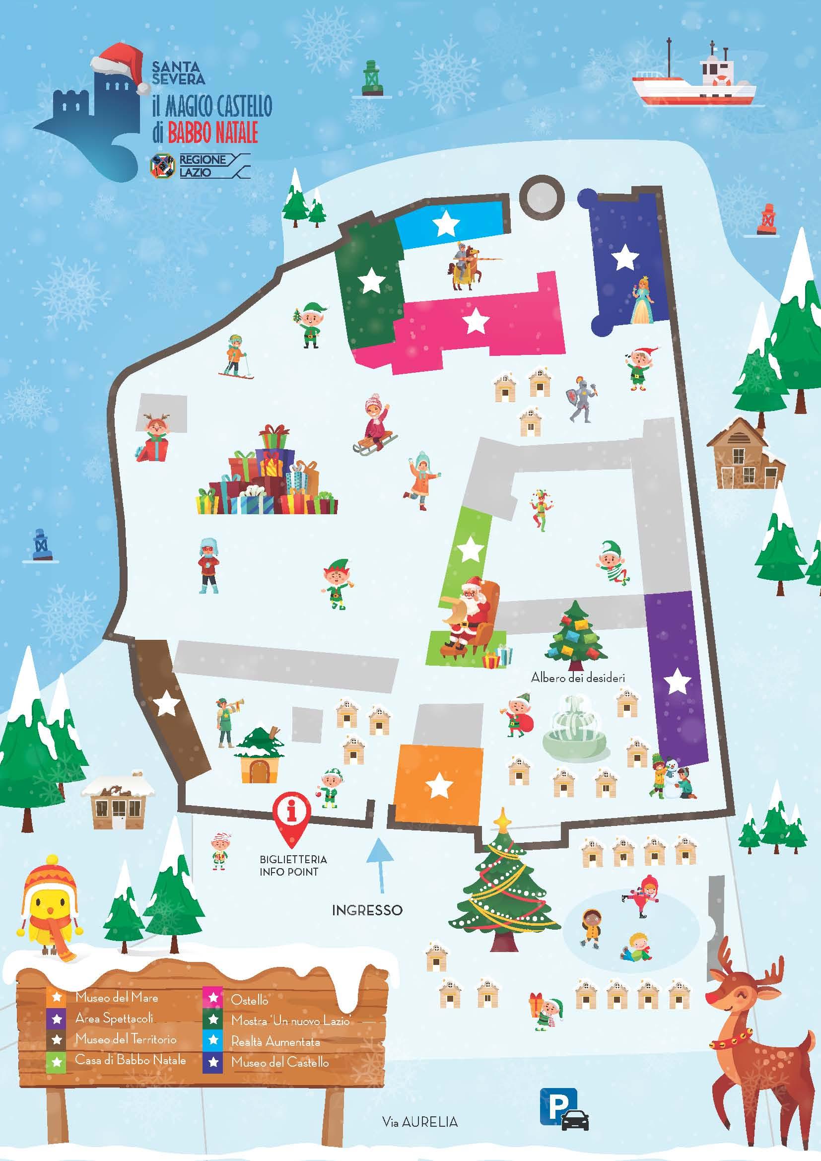 Babbo Natale Mappa.Il Castello Di Santa Severa Si Trasforma Nel Villaggio Di Babbo Natale Il Faro Online
