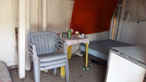 Uno degli alloggi ricavati nell'ex Faber Beach