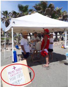 Cerchiato il cartello nel quale viene indicato che la postazione assicura un pronto soccorso in caso di necessità