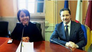 A sinistra Monica Picca (Lega) e Antonino Di Giovanni (M5S)