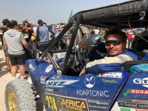 Tassi-al-traguardo-300x225 Gianluca Tassi, pilota disabile, è il primo italiano al traguardo dell'Africa Eco Race Motori Gare Moto