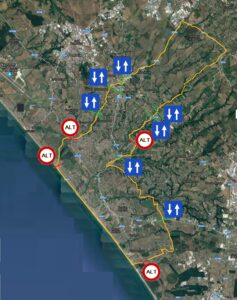 mappa varchi di accesso Ardea