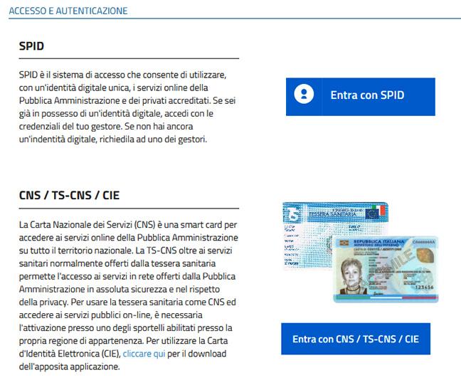 Accesso ai certificati online