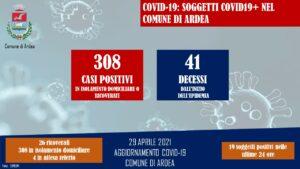 Covid-19 Ardea 29 aprile